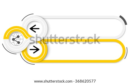 Two frames for your text and share icon - stock vector