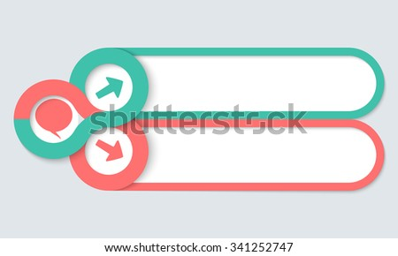 Two frames for your text and speech bubble - stock vector
