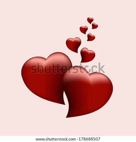 two heart - stock vector