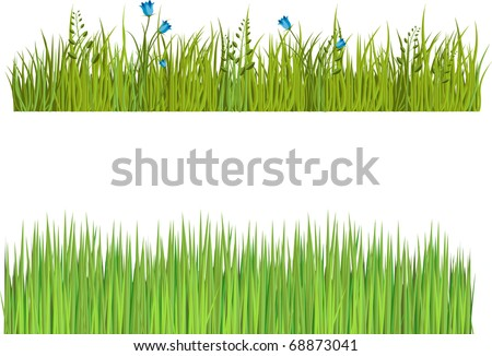 Grass Clip Art Border Two isolated grass borders