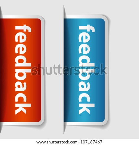 Two labels or tickets inserting to slot - stock vector