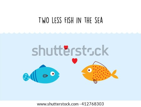 Cute wedding couple clipart stock photos images for Two less fish in the sea
