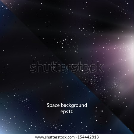 Two modern design space backgrounds. Blue and purple variation. Sizable and editable square background. Deep universe. - stock vector