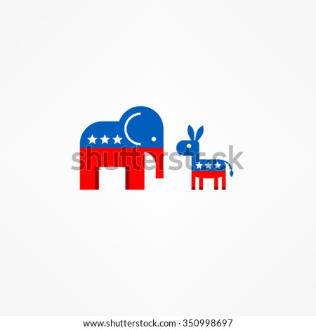 Two Party icons - stock vector