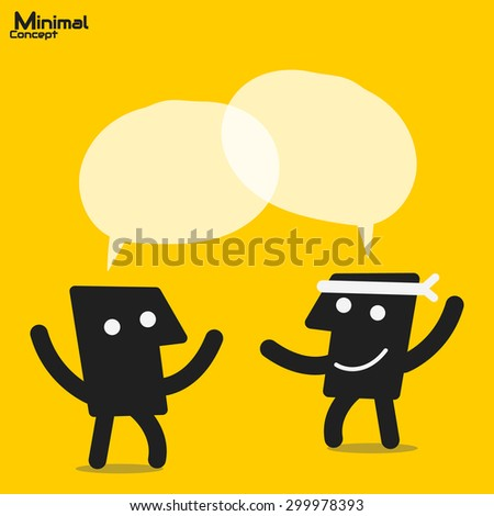 two people discussion - stock vector