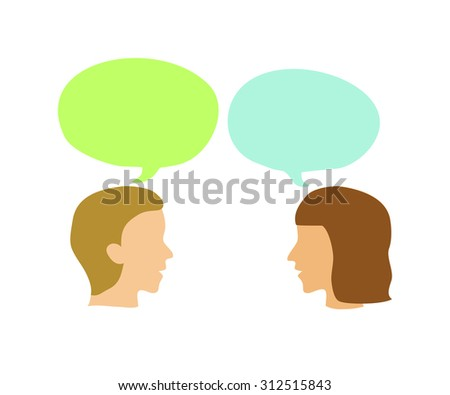 Two people talking - stock vector