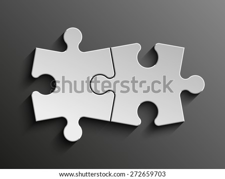 Two sided puzzle presentation. puzzle icon eps10, puzzle icon illustration, puzzle icon picture, puzzle icon flat,puzzle web icon, puzzle icon art, puzzle icon drawing, puzzle icon, puzzle icon vector - stock vector