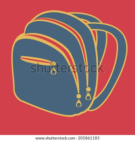 Two textbooks flat icon, vector (from set Back to school) - stock vector