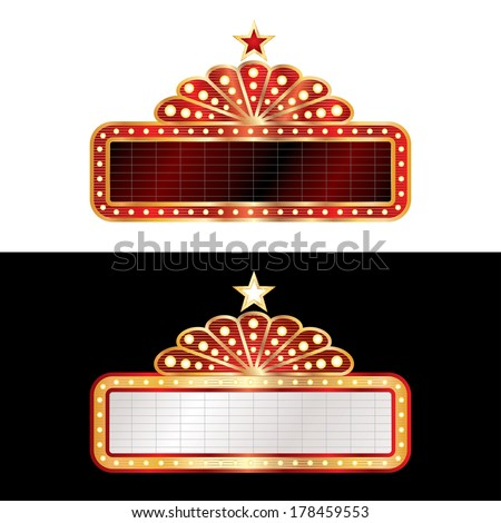 two vector black blank billboards - stock vector
