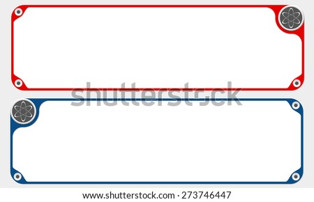 Two vector frames for your text and science symbol - stock vector