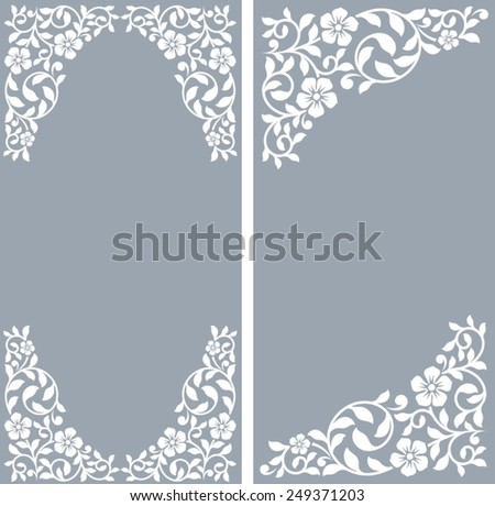 Two vintage invitation cards - stock vector