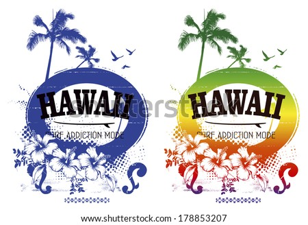 two vintage surf posters - stock vector