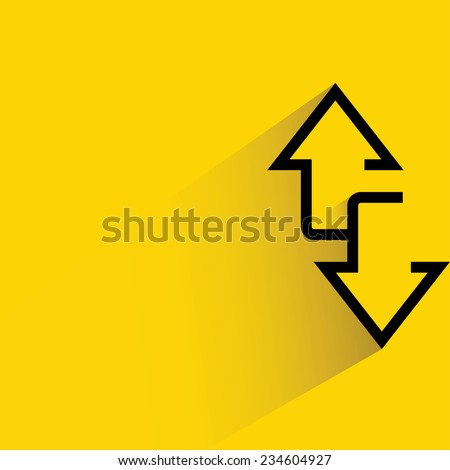 two way arrows, up and down directions  - stock vector