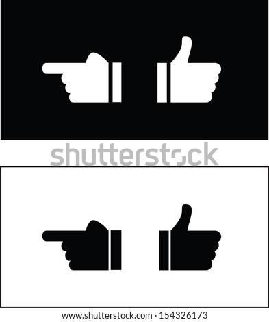 two ways to show finger - stock vector