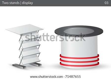 Two white stands.Vector illustration. - stock vector