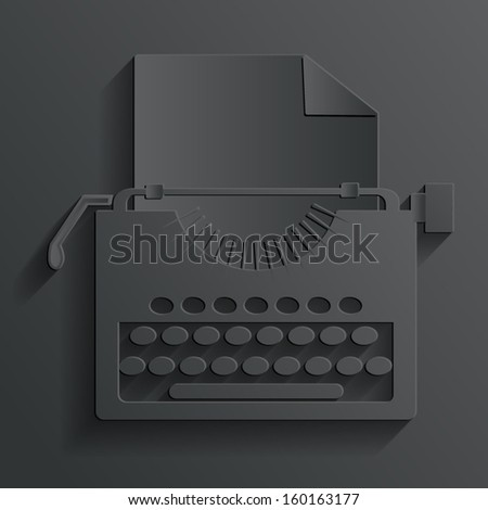 typewriter vector - stock vector