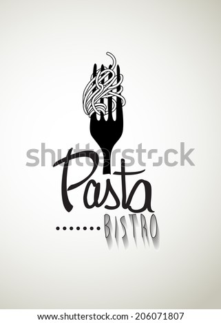 "Typo vector with word ""Pasta Bistro"" - stock vector"