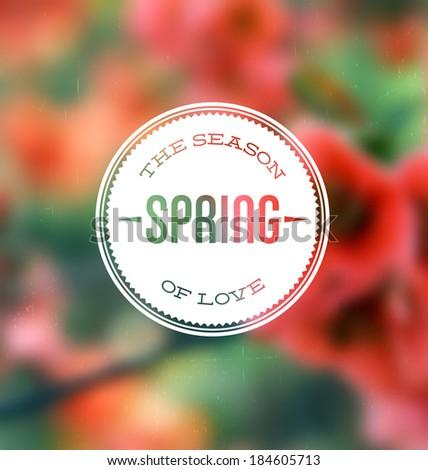 Typographic Design - Spring Label - stock vector