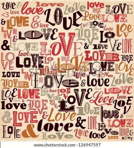 Typographic Valentines Day Design - stock vector