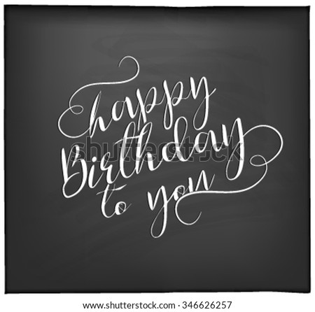 Typographical  Happy Birthday Greeting Card Design - stock vector