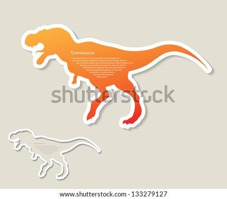 Tyrannosaurus Rex sticker - vector illustration - stock vector