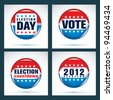 U.S. presidential election 2012 - stock vector