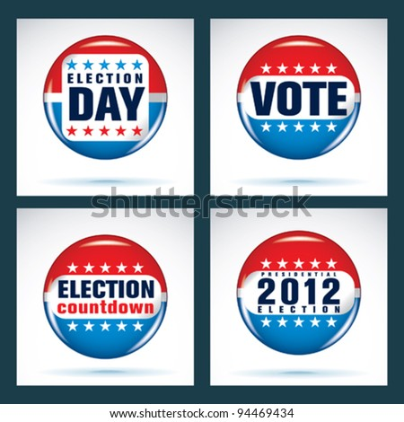 U.S. presidential election 2012 - stock vector