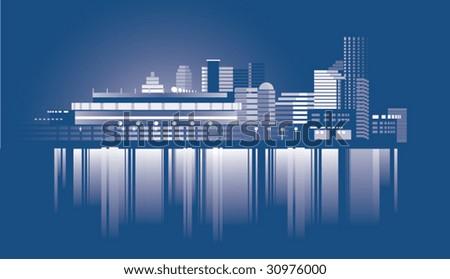 U.S. state Cincinnati - stock vector
