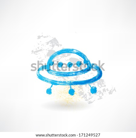 Ufo icon. - stock vector