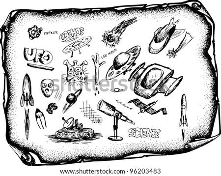 UFo icons - stock vector