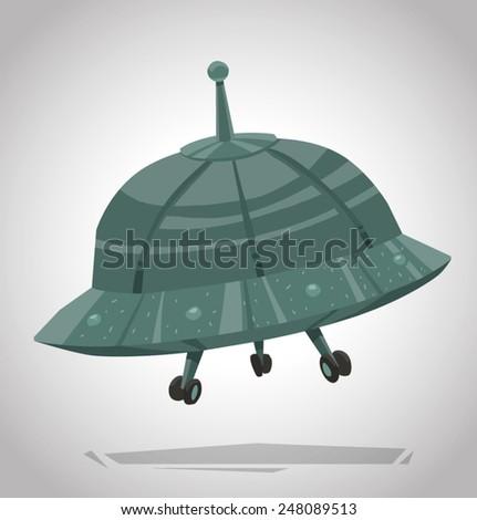 Ufo, vector - stock vector