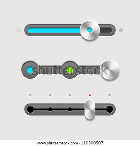 UI sliders set. Vector. - stock vector