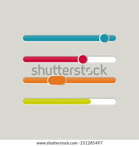 UI sliders set. Vector. downloaders,  progress bar and loading. for web sites and mobile app - stock vector