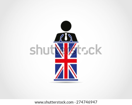 UK Britain Businessman Corporate Politician - stock vector