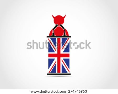 UK Britain Evil Speech - stock vector