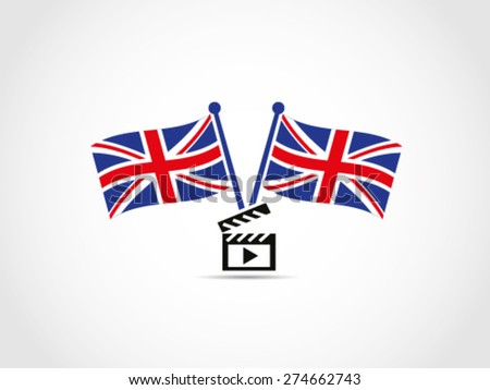 UK Britain Film Cinema Industry - stock vector