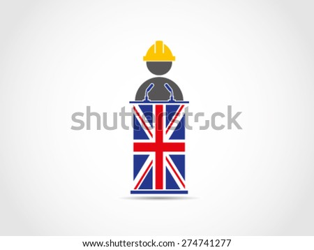 UK Britain Labor Employment Aspiration - stock vector