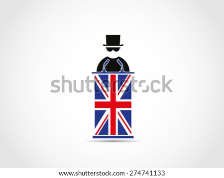 UK Britain Mafia Aspiration - stock vector