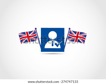 UK Britain Politician Candidate - stock vector