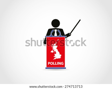 UK Britain Polling Analyst Presentation - stock vector