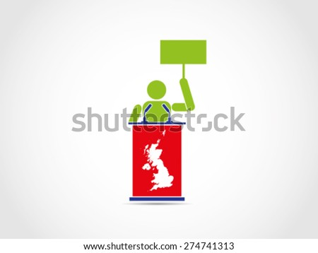 UK Britain Protest Demonstration - stock vector