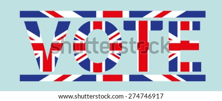 UK Britain Vote Text - stock vector