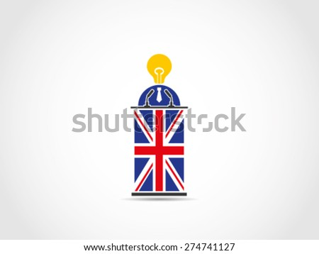 UK Britain With No Idea Solution Pointless Policy - stock vector