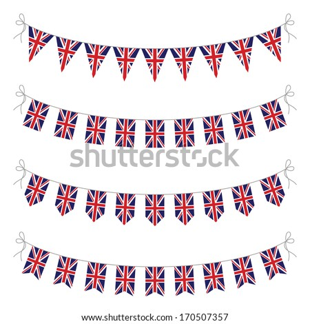 uk bunting - stock vector