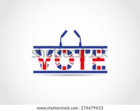 UK Great Britain Elections Podium Text Vote Illustration - stock vector