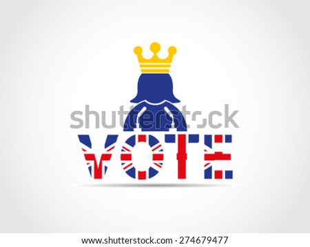 UK Great Britain Elections Queen Speech Campaign Advise - stock vector