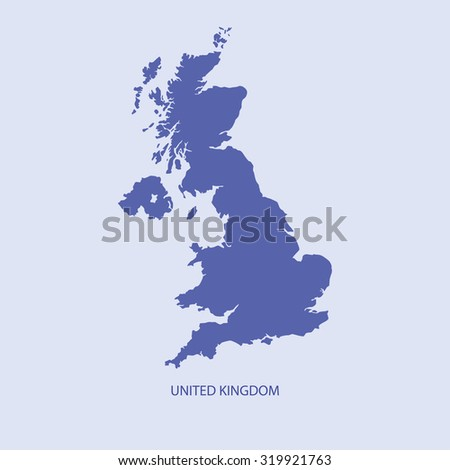 UK map - stock vector