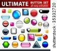 Ultimate button set for web design. Vector. - stock vector
