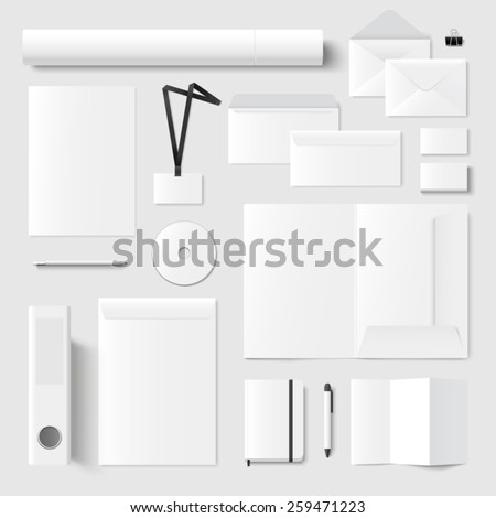 Ultimate vector set of printing materials template for branding identity.  - stock vector