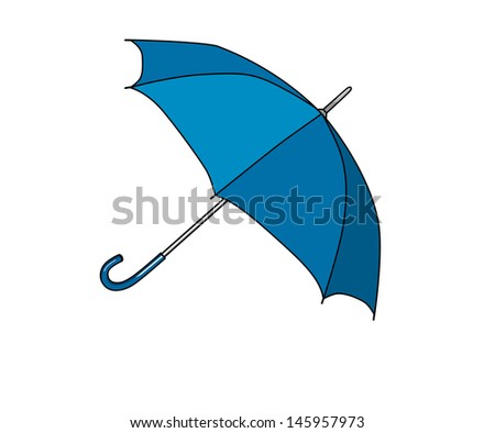 Umbrella blue - stock vector